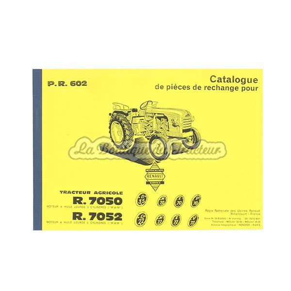 Catalogue De Pièces Renault R7050 R7052 La Boutique Du Tracteur