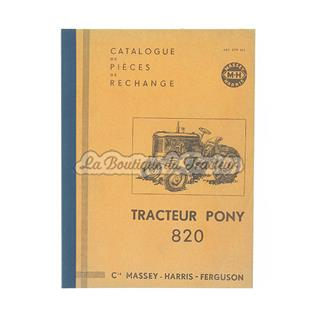 Catalogue de pièces de rechange Massey Harris PONY 820
